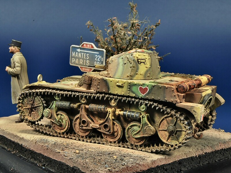 French Light Tank AMR-35 by Joaquin G. Gazquez